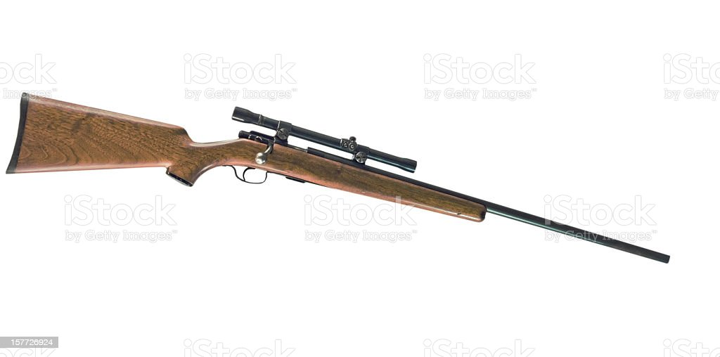 Rifle with Clipping Path stock photo