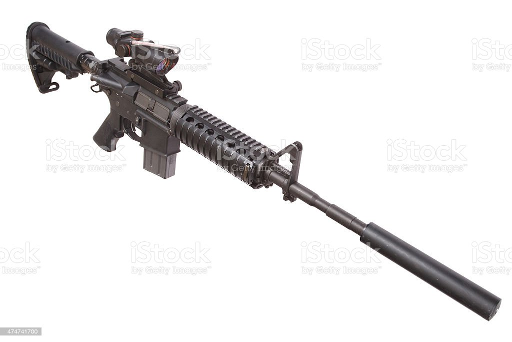 M4 Rifle With Silencer Stock Photo & More Pictures of 2015 | iStock