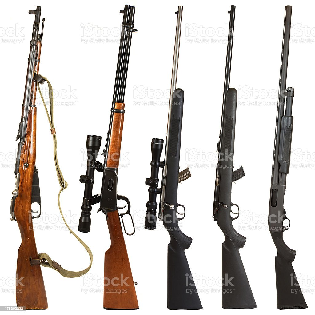 Rifles royalty-free stock photo