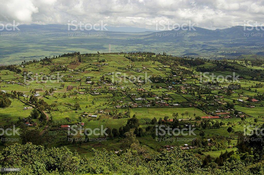Rift Valley in Kenya stock photo