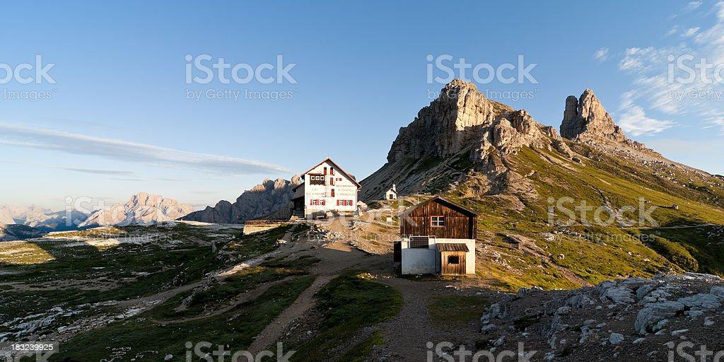 Rifugio Locatelli - Dolomites stock photo