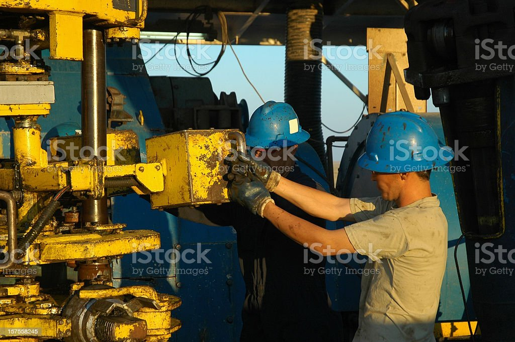 Rig crew royalty-free stock photo