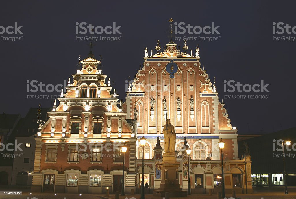 Riga by Night royalty-free stock photo