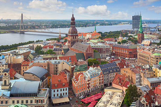 Riga, capital of Latvia stock photo