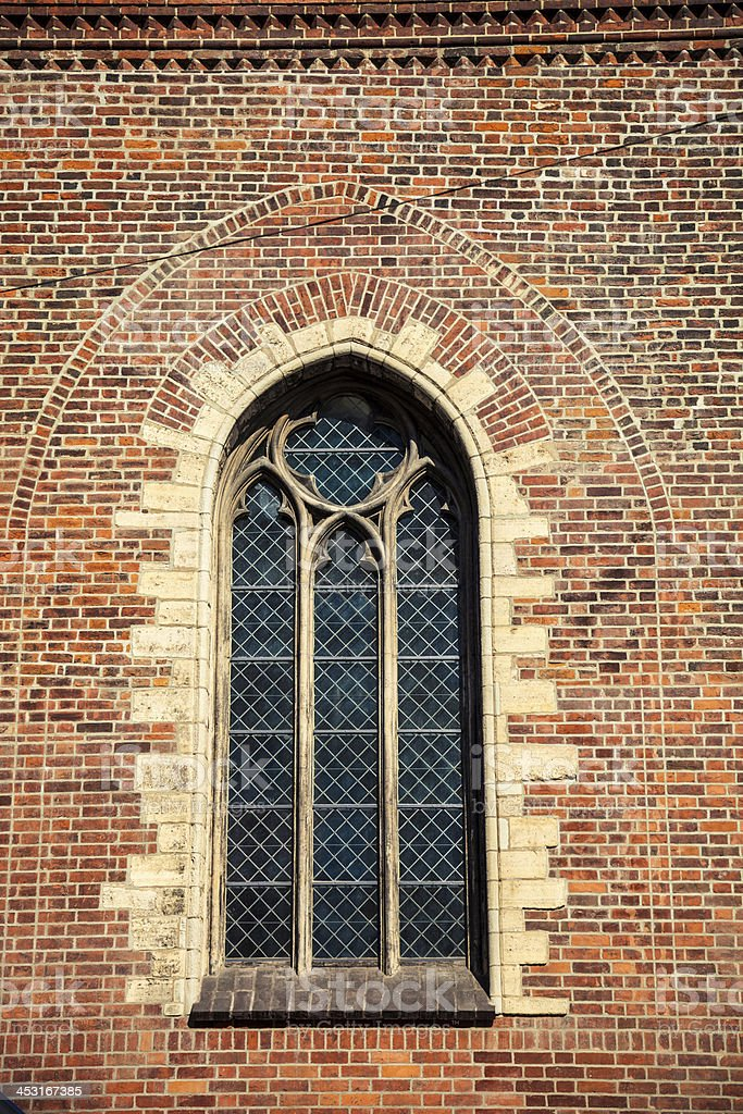 Riga Cathedral window close-up royalty-free stock photo