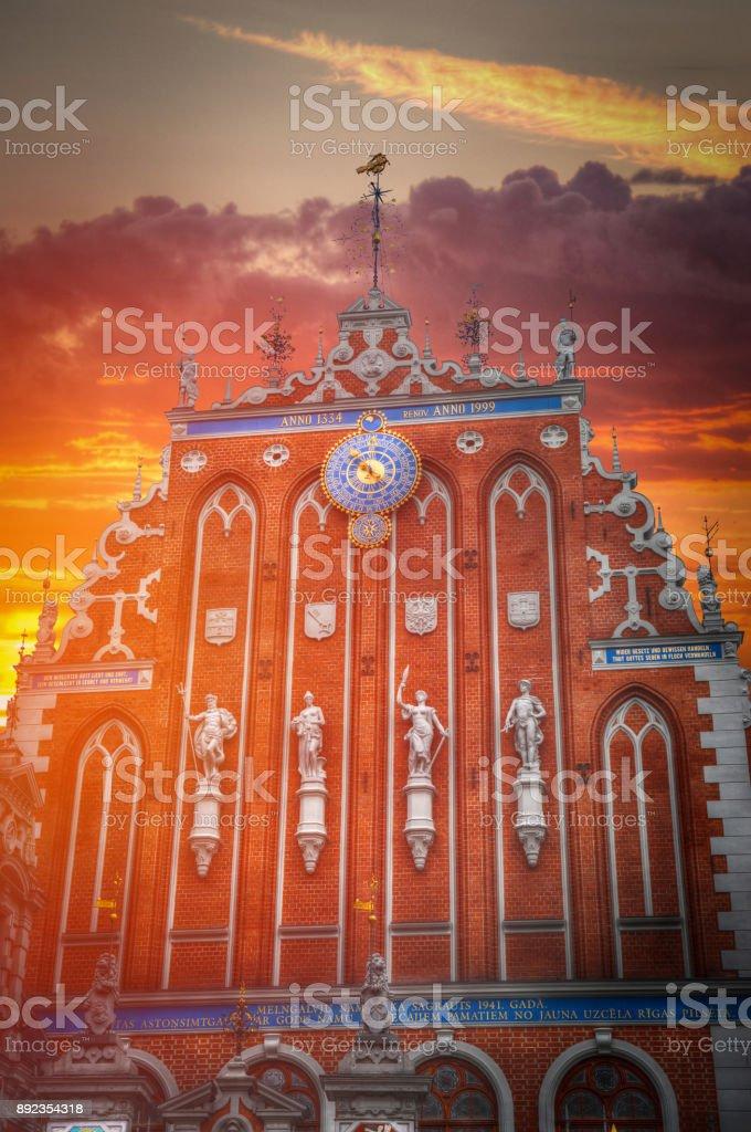 Riga Church of St. Peter stock photo