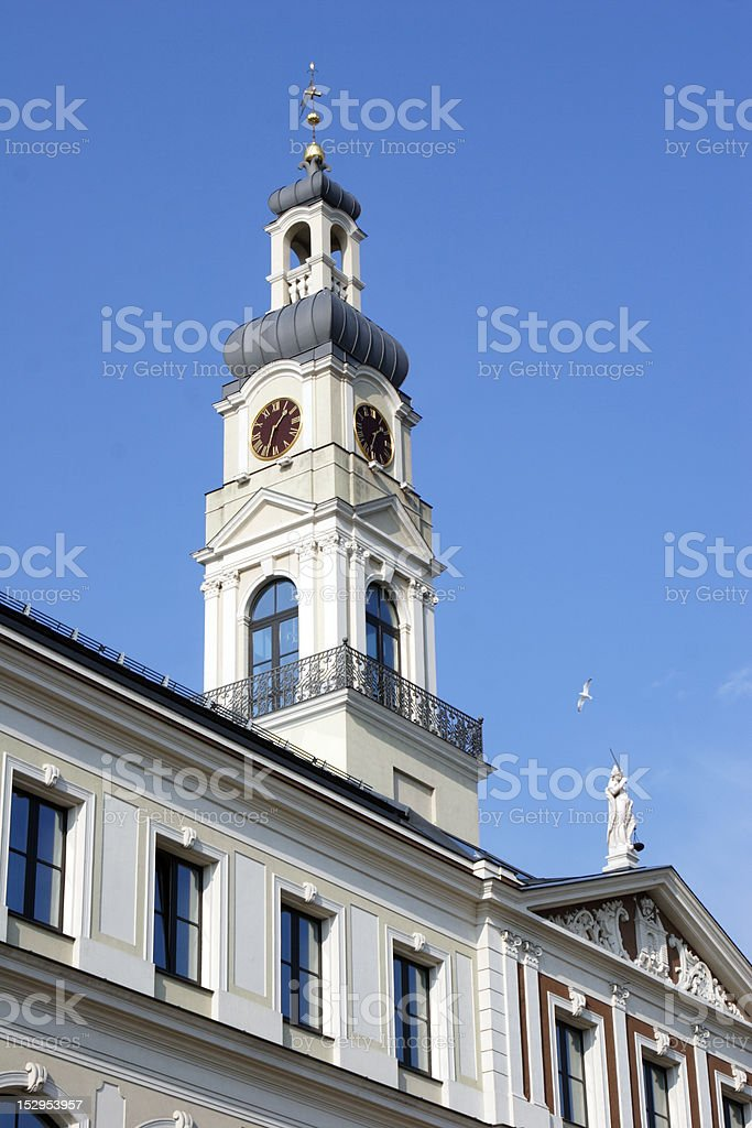 Riga City Council stock photo