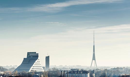 Riga city skyline. Latvia