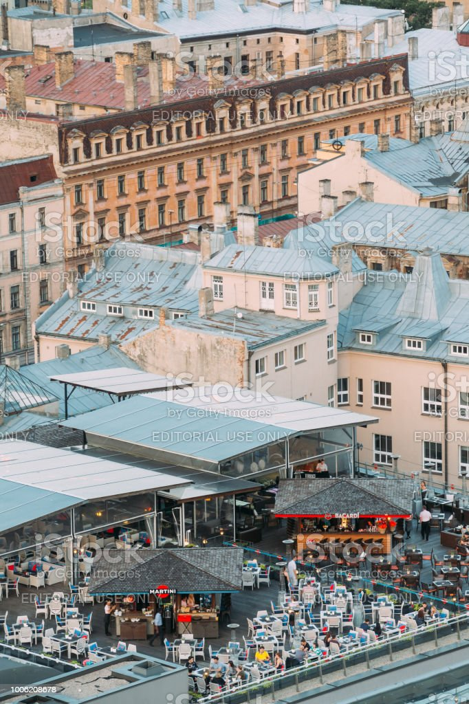 Photo Libre De Droit De Riga Lettonie Vue De Dessus De Toit