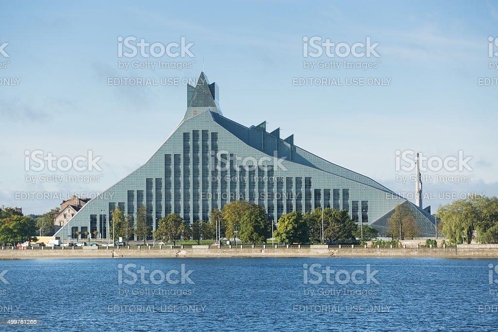 Riga national library stock photo
