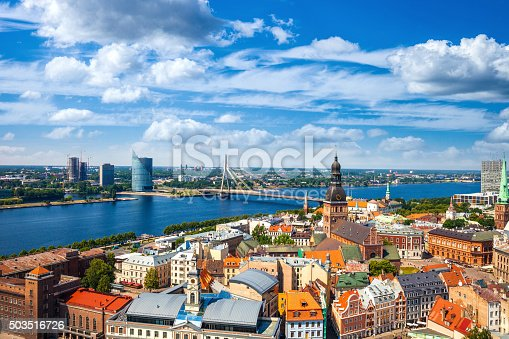 istock Riga Old Town, beautiful view over the city 503516726