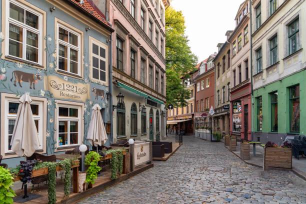 Riga Old Town - Capital of Latvia stock photo