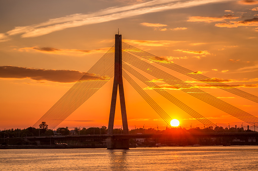Riga sunset sky