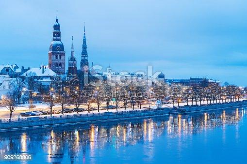 istock Riga towers in winter 909268806