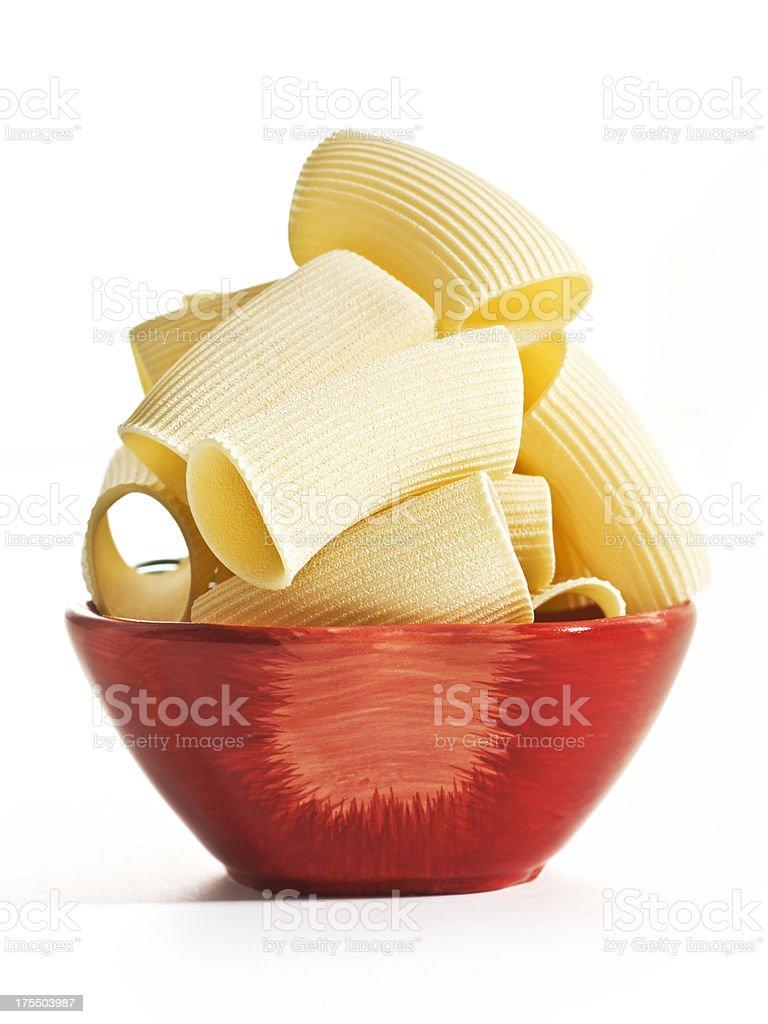 rigati gigante in bowl stock photo