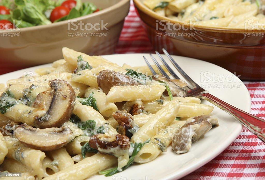 Rigatoni Pasta Florentine stock photo