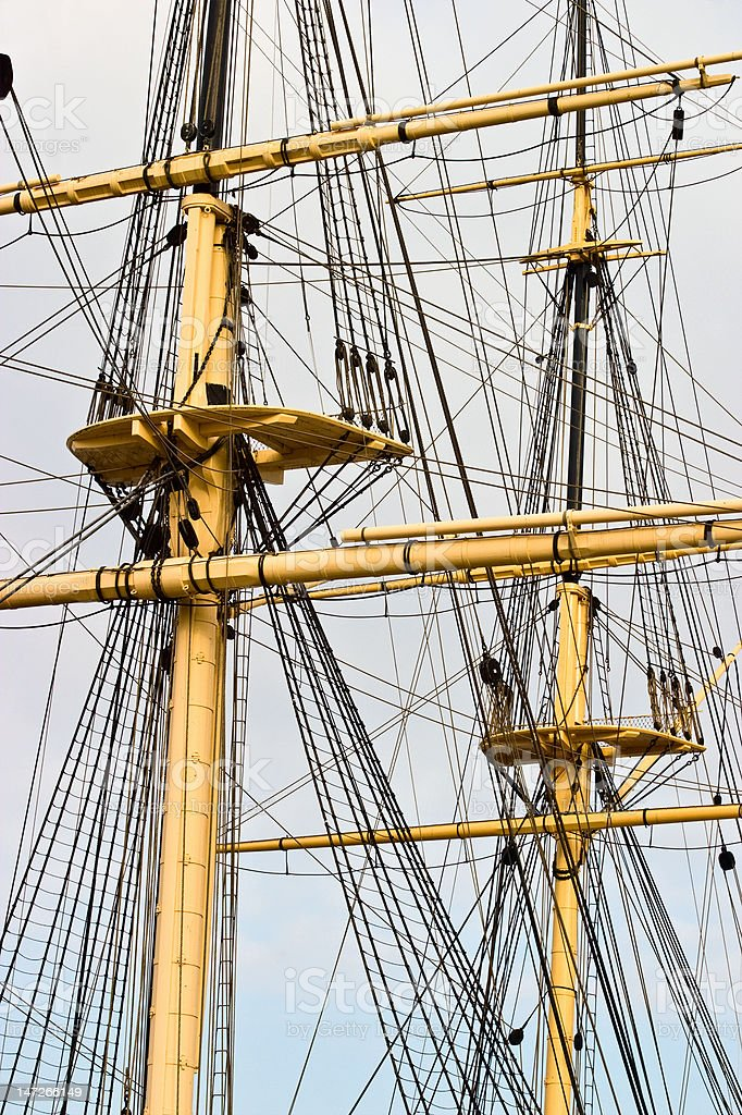 Rigg on a old ship royalty-free stock photo