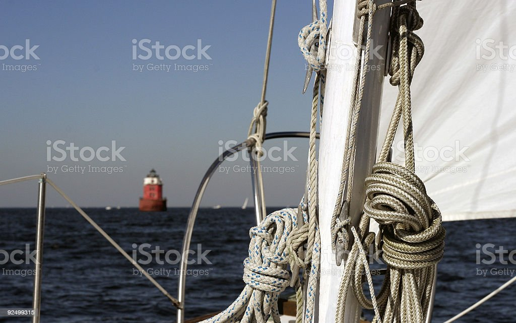 Rigging and Rope royalty-free stock photo