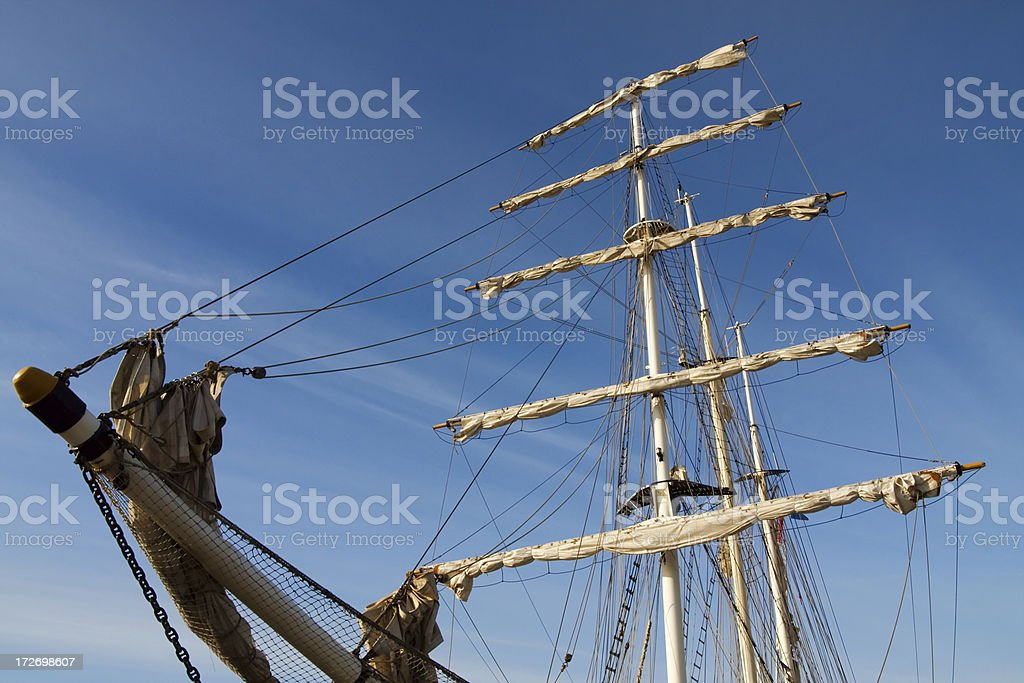 Rigging of Tall Ship royalty-free stock photo
