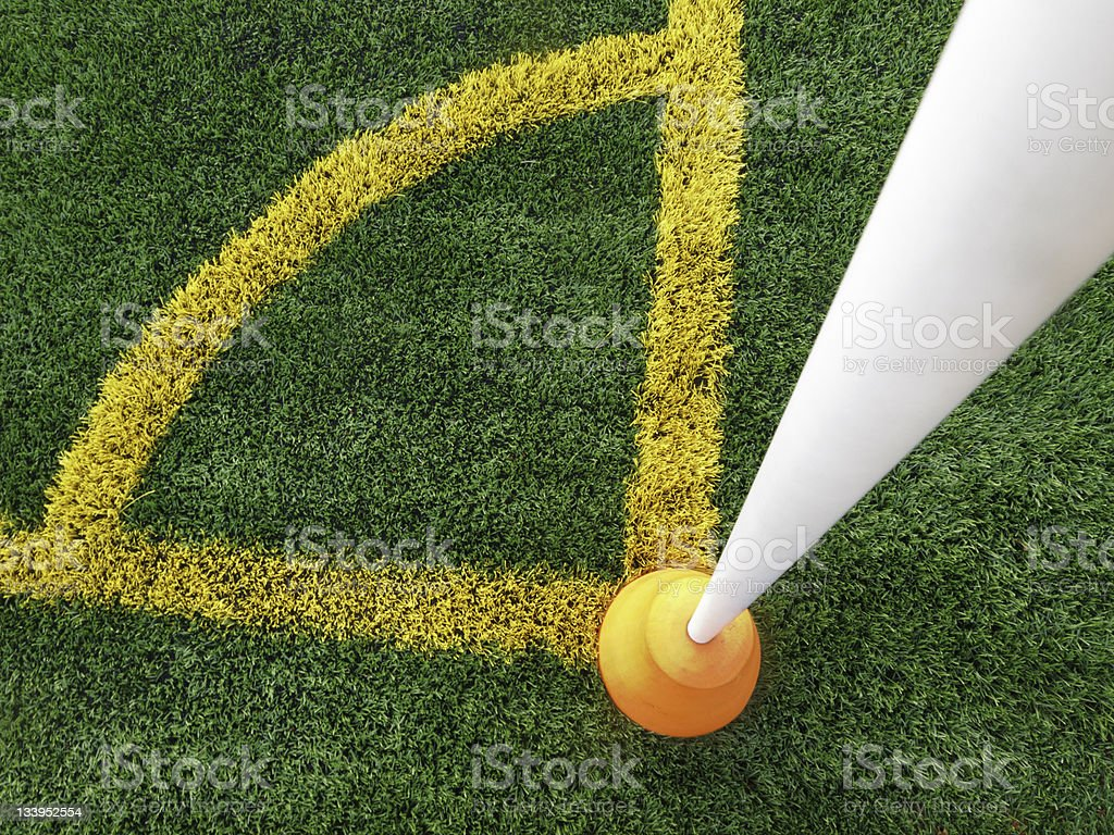 Right angle marks the spot royalty-free stock photo