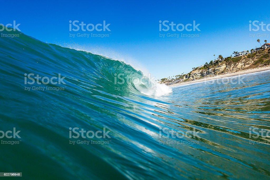 Right Barrel - San Clemente, CA stock photo