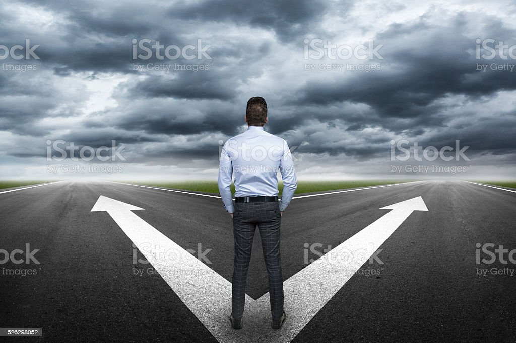 Right destination stock photo