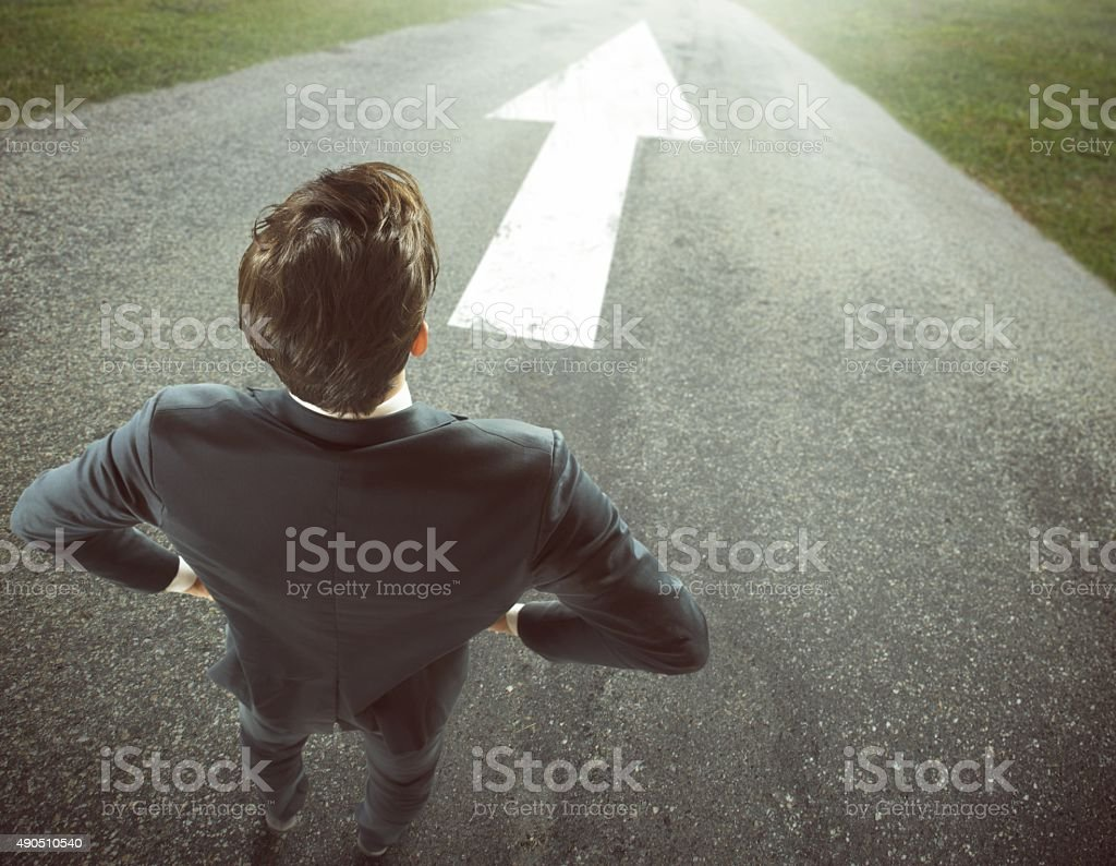 Right direction stock photo