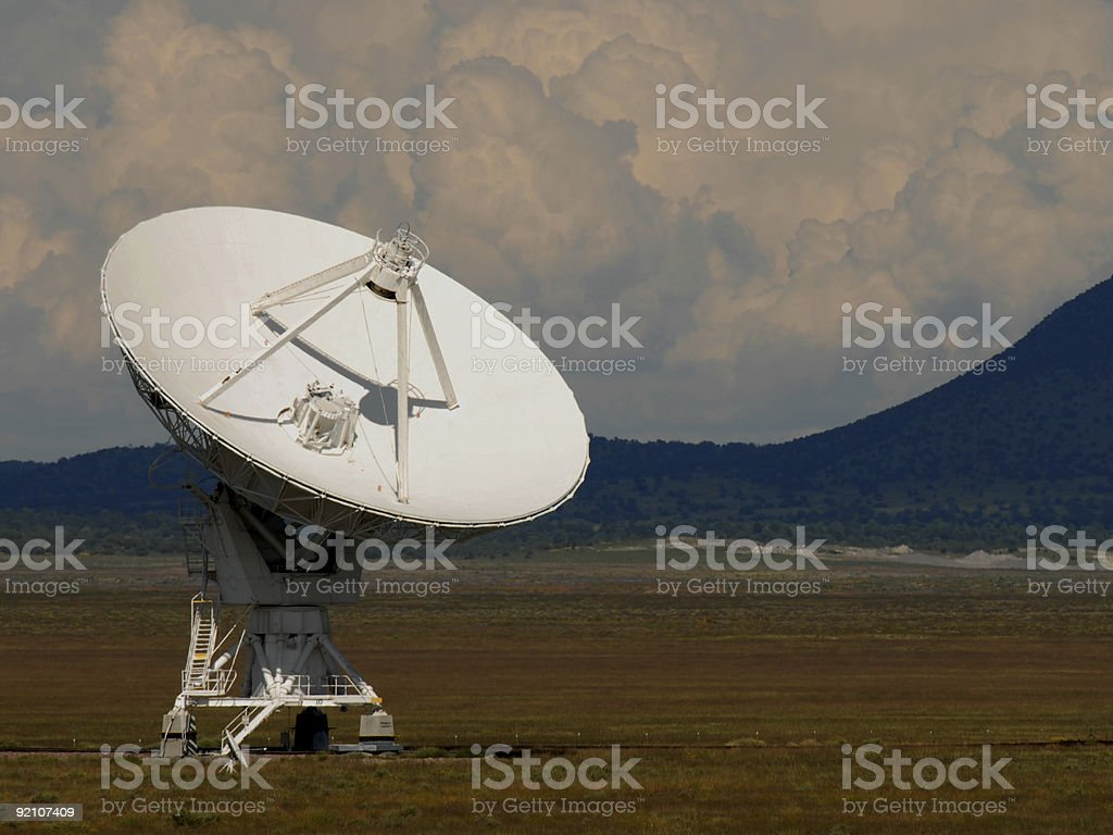 Right Facing VLA Dish stock photo
