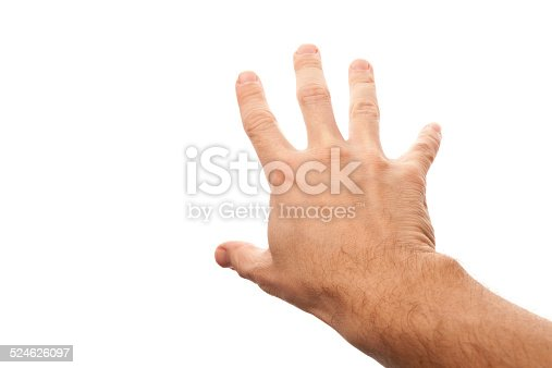 182925103 istock photo Right male hand trying to grab something 524626097