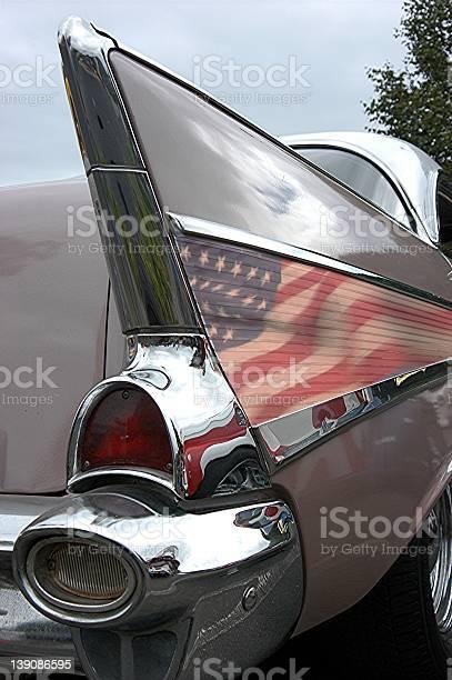 Right Rear Quarter View of a 1957 Chevrolet Belair