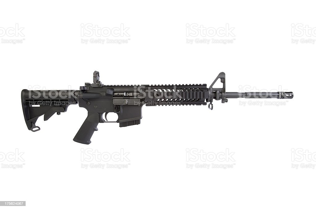 AR-15 Right Side stock photo