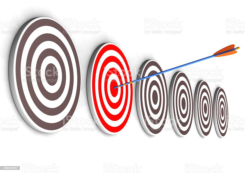 Right Target stock photo