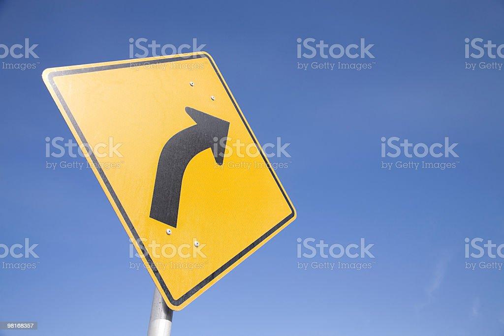 Right turn royalty-free stock photo
