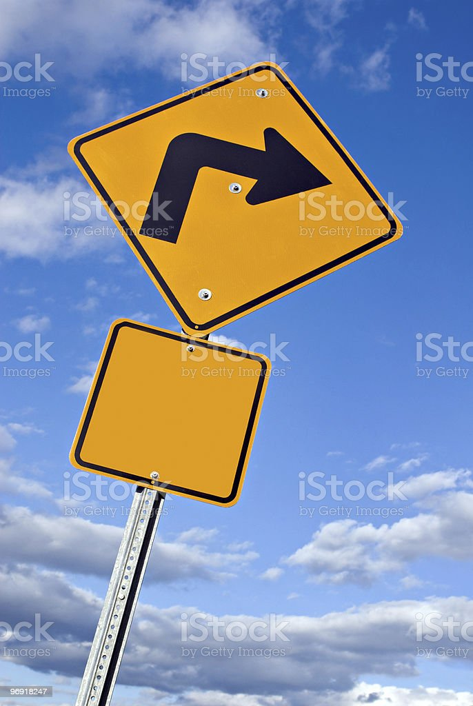 Right Turn Sign royalty-free stock photo