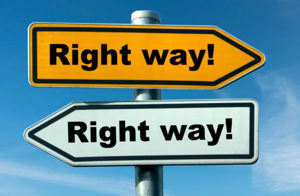 Right way! stock photo
