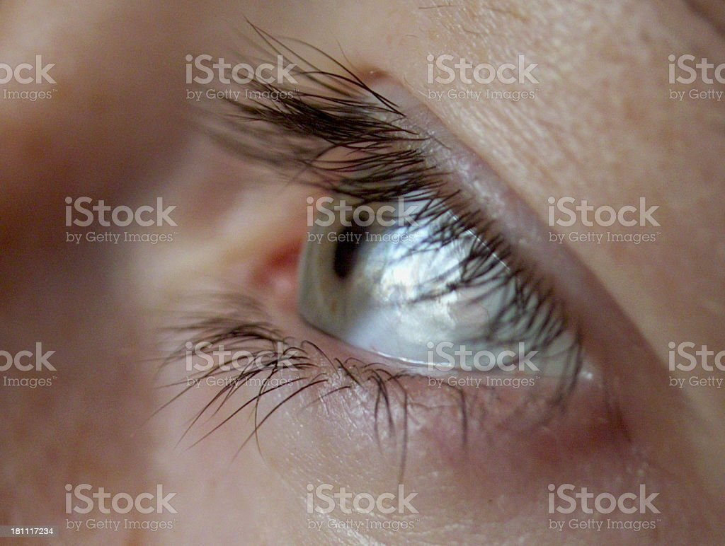 right woman eye royalty-free stock photo