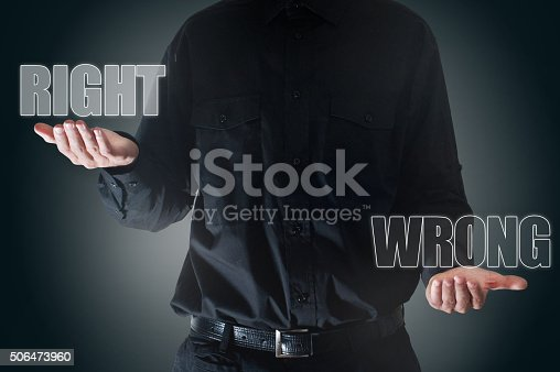 istock Right  / wrong touch screen concept (Click for more) 506473960