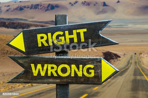 istock Right x Wrong 830561644