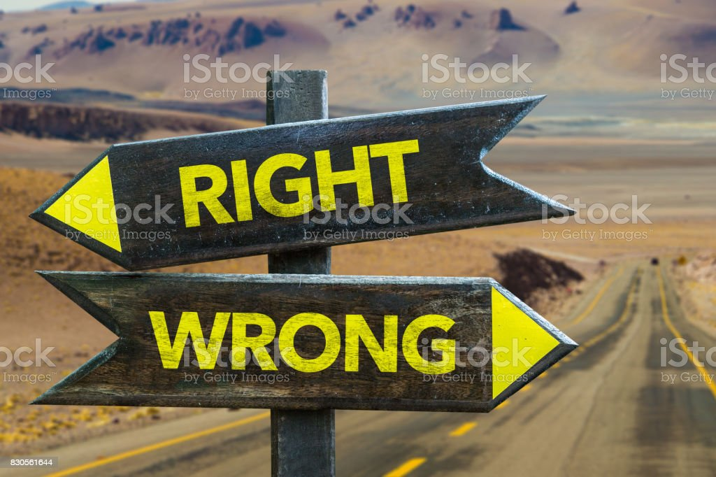 Right x Wrong stock photo