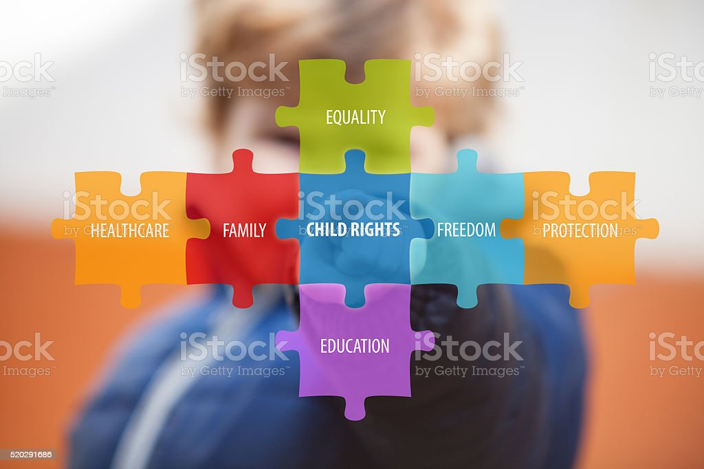 Rights of child. stock photo