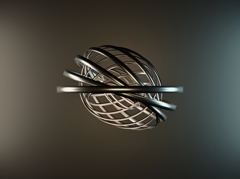metallic circles on a black background