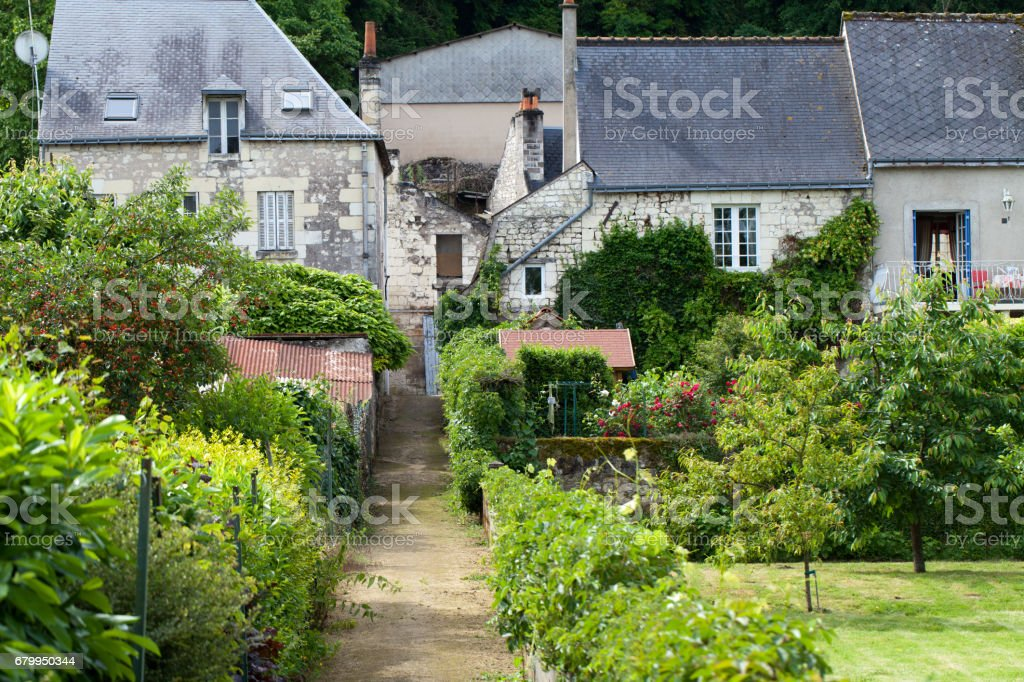 Rigny-Usse the charming small country town in the valley of Loire stock photo