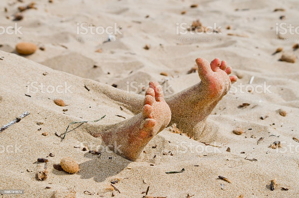 Rigor Mortis On The Beach Stock Photo - Download Image Now