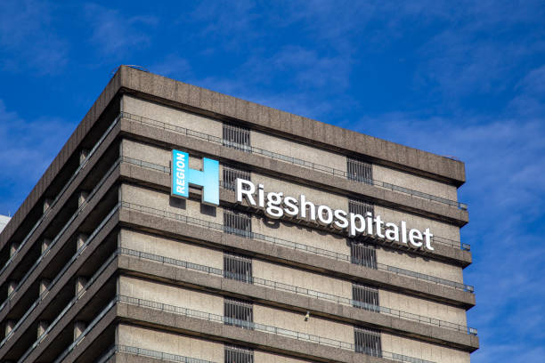 Rigshospitalet, hospital in Copenhagen, Denmark stock photo