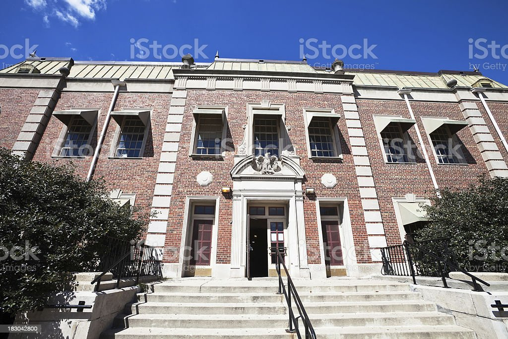 Riis Park Field House in Belmont Cragin, Chicago royalty-free stock photo