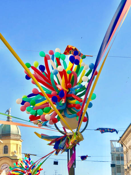 Rijeka carnival Croatia 2018 stock photo