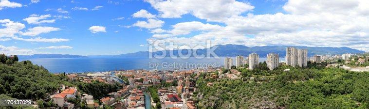Rijeka City panorama, Croatia.