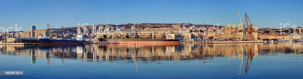 Rijeka city panorama royalty-free stock photo