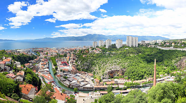 Rijeka City panorama stock photo
