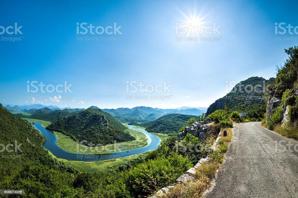 Rijeka Crnojevica, Montenegro stock photo